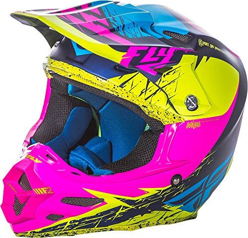 Fly Racing F2Carbon Mips Rückblick Erwachsene Helm, Hohe Sichtbarkeit/Pink, Größe S (Thor Racing)