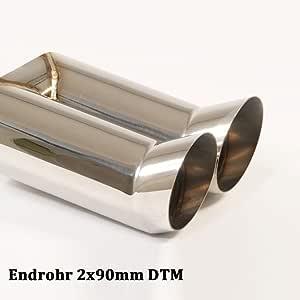 Friedrich Motorsport Auspuff Sportauspuff Endschalldämpfer Sportendschalldämpfer Esd Mit Endrohr 2x90mm Dtm 972207 19 Auto