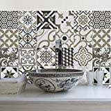 (15 Pieces) carrelage adhésif 20x20 cm - PS00081 - Rabat - Adhésive décorative à Carreaux pour Salle de Bains et Cuisine Stickers carrelage - Collage des tuiles adhésives