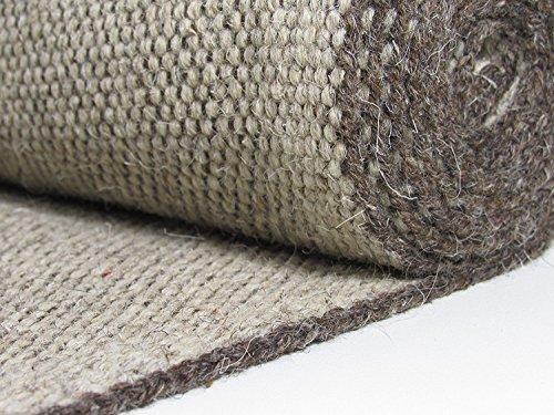 Alfombra natural 80% lana, Color Maron y Beige, Dimensiones 160 x 230 cm