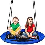 YOLEO Grande balançoire Ronde pour Enfant,Balançoire Nid d'Oiseau Diamètre 100 cm à Suspendre Ajustable pour Enfant Adulte Ja