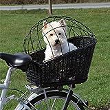 Cestino in vimini per animali domestici, da montare sul portapacchi posteriore della bici