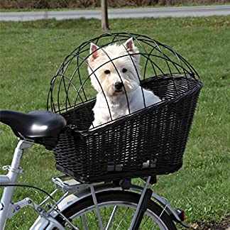 Rear Mounted Bicycle Wicker Basket for Pets Rear Mounted Bicycle Wicker Basket for Pets 61T1 2BW9lbSL