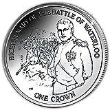 Isla de Man 2015batalla de Waterloo Napoleón Bonaparte moneda