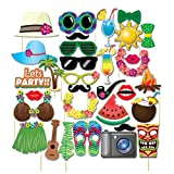 OULII-Hawaiian-Photo-Booth-Props-Luau-Party-Toys-for-Summer-Beach-Pool-Pack-de-32