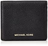Michael Kors Unisex-Erwachsene Bedford Leather Card Holder Geldbörse, Schwarz (Black), 3x9.5x10.8 cm