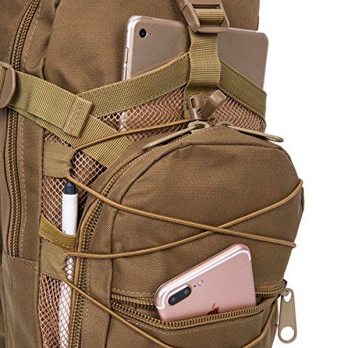 Damen Herren 3L Shoulder Sling Unbalance Backpack Fahrradrucksack Satchel Outdoor Travel Bike Rucksack mit Wasser Braun