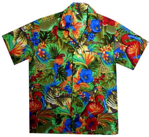 Funky Hawaiihemd, Jungle, grün, XS