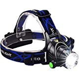 5000LM CREE Xml-l2T6LED lampe frontale Zoomable Phare étanche lampe frontale lampe de poche lampe frontale Pêche Chasse lumière