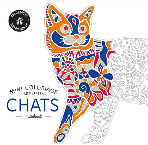 Mini coloriage antistress Chat par Collectif