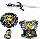 Brigamo 1317 - Ritter Rüstung Set bestehend aus Brustpanzer, Schild, Armschutz und Schwert