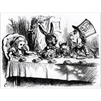 Poster 40 x 30 cm: The Mad Hatter's Tea Party di John Tenniel / Bridgeman Images - stampa artistica professionale, nuovo poster artistico