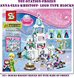 #1: TOY-STATION Frozen Anna & Elsa Sparkling Ice Castle blocks- 767+ pcs set