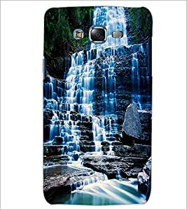 PrintDhaba WaterFall D-1129 Back Case Cover for SAMSUNG GALAXY J7 (Multi-Coloured)