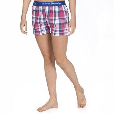 Ladies Checked Jacquard Pyjama Shorts - Lightweight Summer Lounge ...