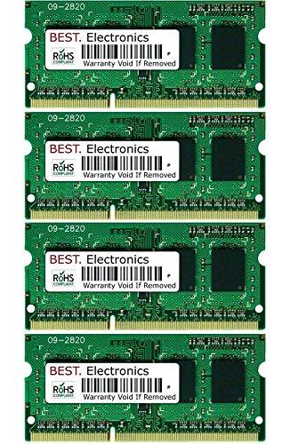 BEST Electronics 32GB Kit (4X 8GB) Arbeitsspeicher für Schenker XMG P705, Notebook Speicher RAM
