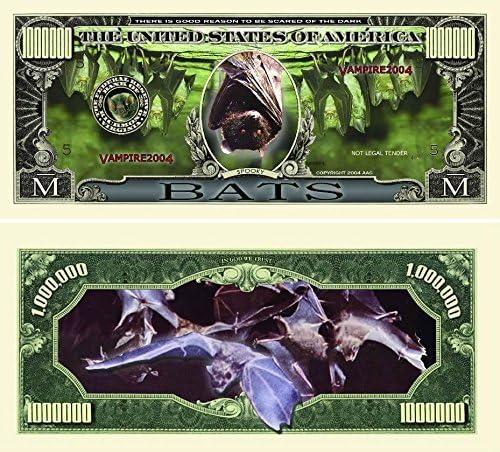 Bats Million Dollar Bill by   Currency Protector by Bill www.AmericanArtClassics.com 81b393