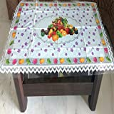 Griiham Center Table Cover Multi And Purple Colour Floral Coffee Table Cover 30*50 Inches Aug