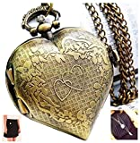 Love Heart Antique Bronze Finish Heart S...