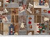 ab 1m: Weihnachts-Dekostoff, winterliche Motive, 140cm