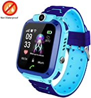 Kids Smartwatch With GPS Tracker, Lesgos Smart Watch Phone Compatible Ios Android Support SOS Call Remote Monitor Two Way Ca