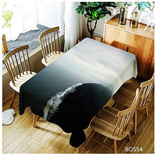 QWEASDZX Tischdecke Nationaler Stil Ölbeständig und wasserdicht Rechteckige Tischdecke Wiederverwendbar Multifunktionale Tischdecke Geeignet für den Innen- und Außenbereich 100x140cm