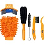 6 in 1 Bike Cleaning Brush Tool Kit Set Bicycle Chain Cleaner Cycling Clean Tire Brushes for Bike