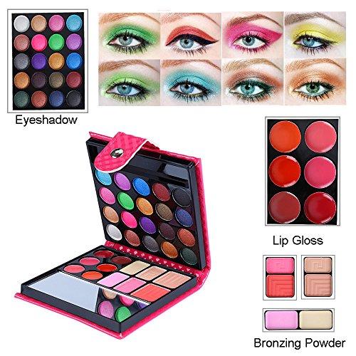 gaddrt Make-up Lipgloss langlebig 32 Farbe wasserdicht Lidschatten Set (A)