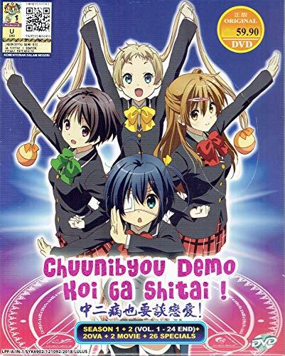 CHUUNIBYOU DEMO KOI GA SHITAI! - COMPLETE ANIME TV SERIES DVD BOX SET (24 EPISODES + 2 OVA + 2 MOVIE + 26 SPECIAL)