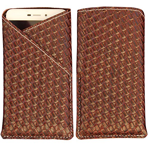 Wickedleak Wammy Titan 4 - New Stylish Pu Leather Mobile Protector Pouch Cover By eSyon - Brown  available at amazon for Rs.249