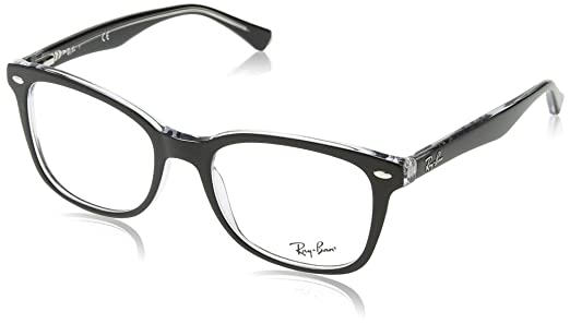 ray ban optical mens rx5285 top black on transparent frame plastic eyeglasses 53mm amazoncouk shoes bags