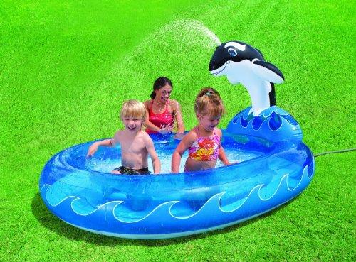 Preisvergleich Produktbild Pool Planschbecken Kinderpool Babypool Baby Pool Schwimmingpool Spray Pool mit Spray Wal Splash Whale . Dieses Planschbecken für Kinder hat ein ganz besonderes Highlight , am Ende des Pool's befindet sich ein Wal, der seine kleinen Badegäste mit Wasser besprüht! Das sorgt für jede Menge Spaß und Abkühlung von obenan den heißen Sommer Tagen! Sprühpool / Sprüh-Pool / Sprüh Pool