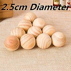 EasyBuy India 30pcs 3pack : 30pcs Repellent Moth Balls Beads Natural Cedar Wood Bead Wardrobe Clothes Drawer Housekeeper 2.5cm Diameter