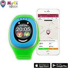 MyKi GPS Uhr Kinder, Smartwatch mit GPS Tracker, Handy Ortung, SOS und App Tracking in Deutsch (Blau)