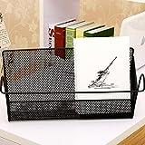 Bett Regal Aufbewahrungskörbe Eisen Lagerplatz Bett aufhängen Aufbewahrungskorb mit Mesh für Schlafsaal Wohnzimmer, schwarz