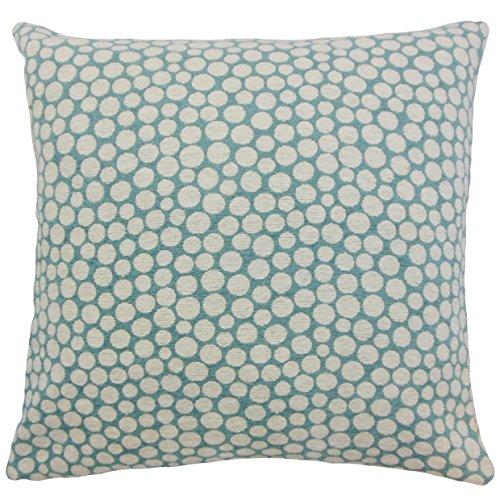 La Almohada Collection Elif diseño de Lunares Funda para cojín, Azul