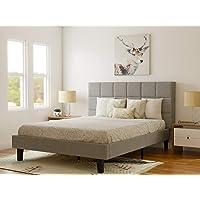 DecorNation King Engineered Wood Platform Bed Without Storage - ( Grey)
