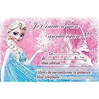 Amazon la reine des neiges invitations dcorations et 10 cartes invitation anniversaire la reine des neiges frozen in french avec des enveloppes roses stopboris Images