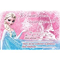 Amazon la reine des neiges invitations dcorations et 10 cartes invitation anniversaire la reine des neiges frozen in french avec des enveloppes blanches stopboris Gallery