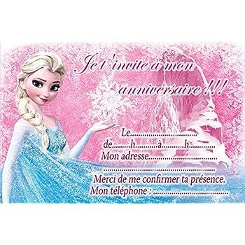10 cartes invitation anniversaire la reine des neiges frozen in 10 cartes invitation anniversaire la reine des neiges frozen in french stopboris Images