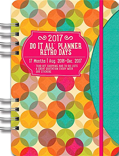 Retro Days Do It All 17 Months Planner 2017