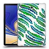 Head Case Designs Officiel Cat Coquillette Modèle De Feuille De Fougère Vert Bleu Tropical Étui Coque en Gel Molle pour Samsung Galaxy Tab S4 10.5 (2018)