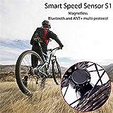 Gusspower Geschwindigkeit Sensor, Intelligenter Zwei-Protokoll Fahrrad Wireless Bluetooth ANT Radfahren Sensor für Aufspüren der Fahrgeschwindigkeit, Kompatibel mit Mountian Fahrrad