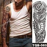 Modeganqing 3 Pezzi di Tatuaggio Impermeabile con Ali d'Angelo e Grande Braccio Set 12-TQB-065 48x17cm