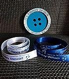 Nr. 1Fußball Fan Kuchen Band Everton 38mm x 1m Blue Ribbon/White Font