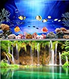 "19"" (50cm) Double Sided Aquarium Background Backdrop Fish Tank Reptile Vivarium Marine"
