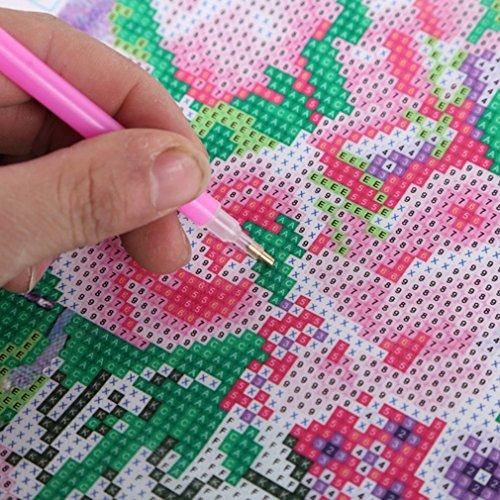 Hemore DIY Modern 40 x 30 cm Santa Claus Muster Diamant Gemälde Stickerei Kreuzstich Rund Harz Home Decor Gemälde