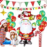 XIANRUI Decorazione per Feste Natalizie, Christmas Foil Balloons Christmas Snowman Santa Tree Kit Ballon Decorazione per Party