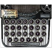 BCI Manualidades salvaged Vintage máquina de Escribir Teclas Letras, acrílico