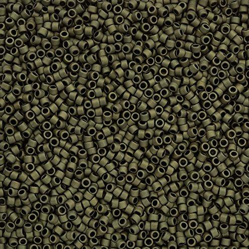Toho Perlen 11/0Treasure Seed Bead matt Farbe Dark Olive 7,8g tt-01-617 -